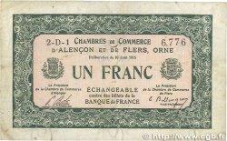 1 Franc FRANCE régionalisme et divers Alencon et Flers 1915 JP.006.20 pr.TTB