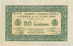 50 Centimes FRANCE régionalisme et divers ALENCON ET FLERS 1915 JP.006.23 SUP+