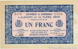 1 Franc FRANCE régionalisme et divers ALENCON ET FLERS 1915 JP.006.24 SUP+