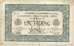1 Franc FRANCE régionalisme et divers ALENCON ET FLERS 1915 JP.006.30 TB