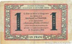 1 Franc FRANCE régionalisme et divers ALENCON ET FLERS 1915 JP.006.38 pr.TTB