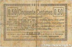 50 Centimes FRANCE régionalisme et divers AMIENS 1915 JP.007.20 TB