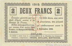 2 Francs FRANCE régionalisme et divers AMIENS 1915 JP.007.11 SUP