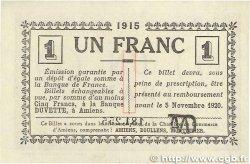 1 Franc FRANCE régionalisme et divers AMIENS 1915 JP.007.16 SUP+