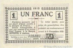 1 Franc FRANCE régionalisme et divers Amiens 1915 JP.007.16 SUP
