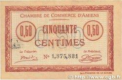 50 Centimes FRANCE régionalisme et divers Amiens 1915 JP.007.40 TTB+