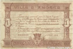 1 Franc FRANCE régionalisme et divers ANGERS 1915 JP.008.06 TTB