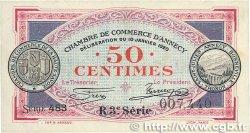 50 Centimes FRANCE régionalisme et divers Annecy 1920 JP.010.15 TTB+