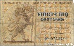 25 Centimes FRANCE régionalisme et divers ARRAS 1918 JP.013.03 TB