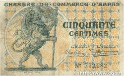 50 Centimes FRANCE régionalisme et divers Arras 1918 JP.013.04 pr.TTB