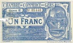1 Franc FRANCE régionalisme et divers Auch 1914 JP.015.03 pr.TTB