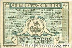25 Centimes FRANCE régionalisme et divers Aurillac 1917 JP.016.11 TTB+