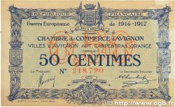 50 Centimes FRANCE régionalisme et divers Avignon 1915 JP.018.13 TTB+
