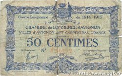 50 Centimes FRANCE régionalisme et divers AVIGNON 1915 JP.018.13 B
