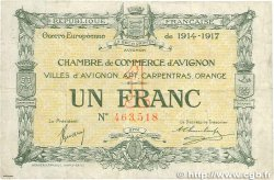 1 Franc FRANCE régionalisme et divers AVIGNON 1915 JP.018.17 TB