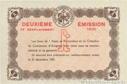 1 Franc FRANCE régionalisme et divers AVIGNON 1920 JP.018.24 SUP