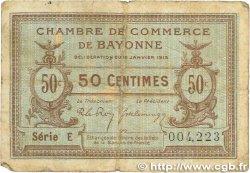 50 Centimes FRANCE régionalisme et divers Bayonne 1915 JP.021.01 B