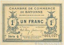 1 Franc FRANCE régionalisme et divers BAYONNE 1915 JP.021.09 pr.NEUF