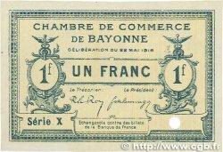 1 Franc FRANCE régionalisme et divers Bayonne 1916 JP.021.31 SUP+
