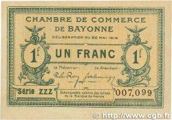 1 Franc FRANCE régionalisme et divers BAYONNE 1916 JP.021.32 TTB+