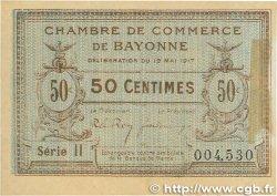50 Centimes FRANCE régionalisme et divers Bayonne 1917 JP.021.42 TTB