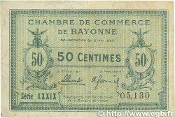 50 Centimes FRANCE régionalisme et divers BAYONNE 1920 JP.021.66 pr.TTB