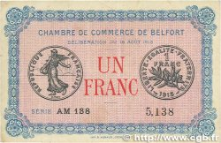 1 Franc FRANCE régionalisme et divers Belfort 1915 JP.023.13 TTB