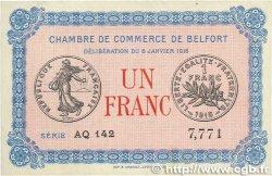 1 Franc FRANCE régionalisme et divers BELFORT 1916 JP.023.24 TTB+