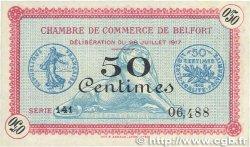 50 Centimes FRANCE régionalisme et divers Belfort 1917 JP.023.26 SUP