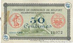 50 Centimes FRANCE régionalisme et divers BELFORT 1918 JP.023.41 TTB