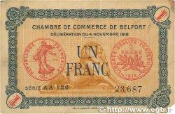 1 Franc FRANCE régionalisme et divers Belfort 1918 JP.023.45 TB