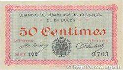 50 Centimes FRANCE régionalisme et divers Besançon 1915 JP.025.01 SUP