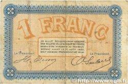 1 Franc FRANCE régionalisme et divers Besançon 1915 JP.025.12 B