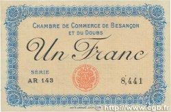 1 Franc FRANCE régionalisme et divers Besançon 1915 JP.025.13 pr.SPL