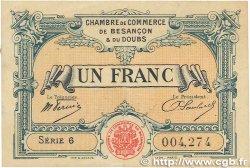 1 Franc FRANCE régionalisme et divers Besançon 1921 JP.025.24 TTB