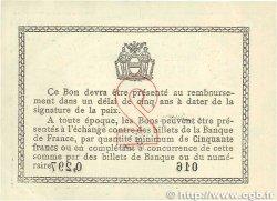 2 Francs FRANCE régionalisme et divers BÉTHUNE 1915 JP.026.10 SUP