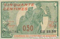 50 Centimes FRANCE régionalisme et divers Béziers 1916 JP.027.20 TTB