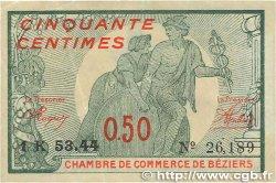 50 Centimes FRANCE régionalisme et divers Béziers 1921 JP.027.32 TTB