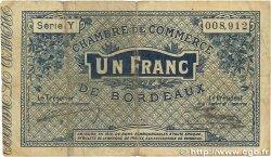 1 Franc FRANCE régionalisme et divers BORDEAUX 1914 JP.030.02 B