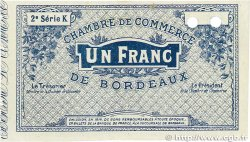 1 Franc FRANCE régionalisme et divers BORDEAUX 1914 JP.030.07 SUP+
