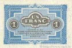 1 Franc FRANCE régionalisme et divers BORDEAUX 1917 JP.030.14 SPL