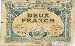 2 Francs FRANCE régionalisme et divers BORDEAUX 1917 JP.030.23 TB