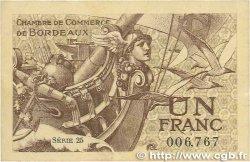 1 Franc FRANCE régionalisme et divers BORDEAUX 1921 JP.030.30 TTB+