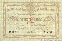 2 Francs FRANCE régionalisme et divers BOULOGNE-SUR-MER 1914 JP.031.13 TTB