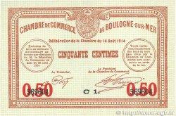 50 Centimes FRANCE régionalisme et divers Boulogne-Sur-Mer 1914 JP.031.14 NEUF