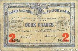 2 Francs FRANCE régionalisme et divers BOULOGNE-SUR-MER 1914 JP.031.21 B