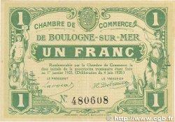 1 Franc FRANCE régionalisme et divers BOULOGNE-SUR-MER 1920 JP.031.30 SUP