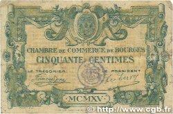 50 Centimes FRANCE régionalisme et divers Bourges 1915 JP.032.05 B