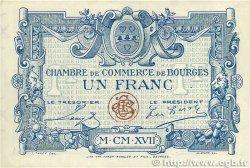 1 Franc FRANCE régionalisme et divers Bourges 1917 JP.032.09 SPL
