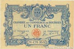 1 Franc FRANCE régionalisme et divers Bourges 1917 JP.032.09 SUP